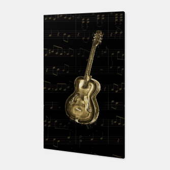 Dripping Gold  Acoustic Guitar on notes Canvas thumbnail image