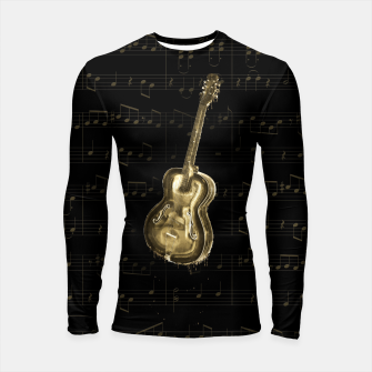 Thumbnail image of Dripping Gold  Acoustic Guitar on notes Longsleeve rashguard , Live Heroes