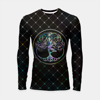 Thumbnail image of Colorful  symbol for Vriksasana - Yoga Tree pose  Longsleeve rashguard , Live Heroes