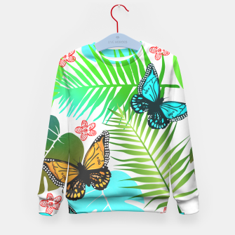 Thumbnail image of Tropical Butterflies Leaf Design Kid's sweater, Live Heroes