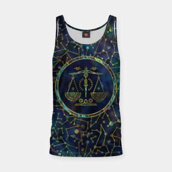 Thumbnail image of Libra Zodiac Gold Abalone on Constellation Tank Top, Live Heroes