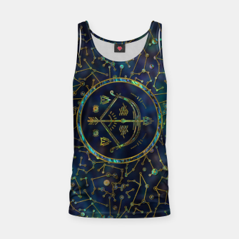 Thumbnail image of Sagittarius Zodiac Gold Abalone on Constellation Tank Top, Live Heroes