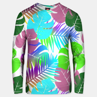Thumbnail image of Tropical Summer Leaf Design Cotton sweater, Live Heroes