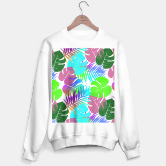 Thumbnail image of Tropical Summer Leaf Design Sweater regular, Live Heroes