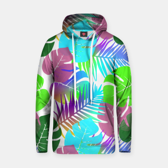 Thumbnail image of Tropical Summer Leaf Design Cotton hoodie, Live Heroes