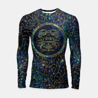 Thumbnail image of Cancer Zodiac Gold Abalone on Constellation Longsleeve rashguard , Live Heroes
