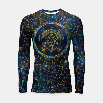 Thumbnail image of Leo Zodiac Gold Abalone on Constellation Longsleeve rashguard , Live Heroes