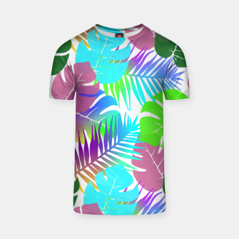 Thumbnail image of Tropical Summer Leaf Design T-shirt, Live Heroes