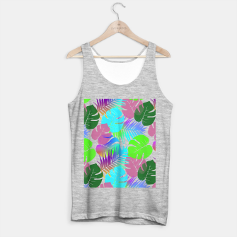 Thumbnail image of Tropical Summer Leaf Design Tank Top regular, Live Heroes