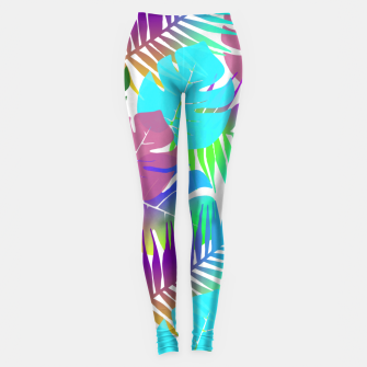 Thumbnail image of Tropical Summer Leaf Design Leggings, Live Heroes