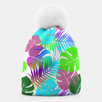 Thumbnail image of Tropical Summer Leaf Design Beanie, Live Heroes