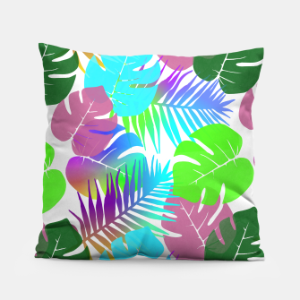 Thumbnail image of Tropical Summer Leaf Design Pillow, Live Heroes
