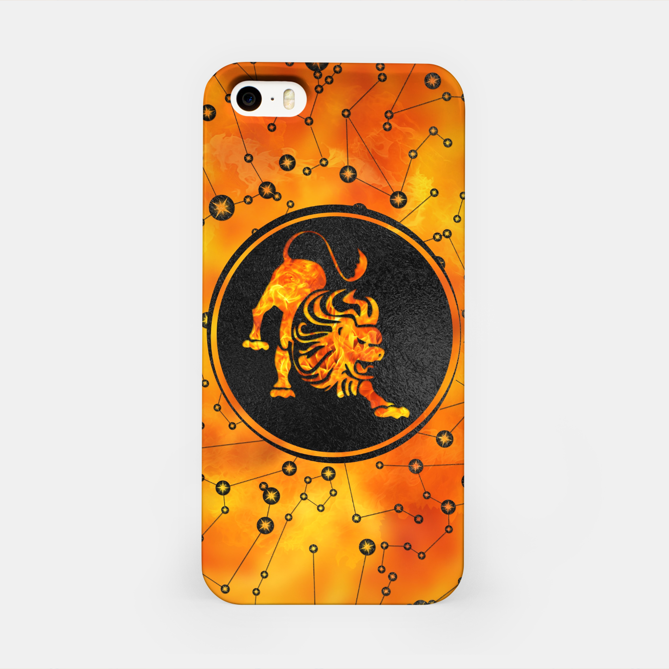 Leo Zodiac Fire element iPhone Case, Live Heroes