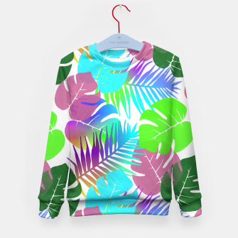 Thumbnail image of Tropical Summer Leaf Design Kid's sweater, Live Heroes