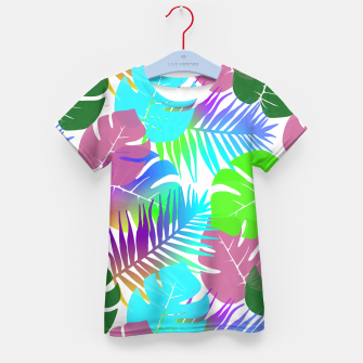Thumbnail image of Tropical Summer Leaf Design Kid's t-shirt, Live Heroes
