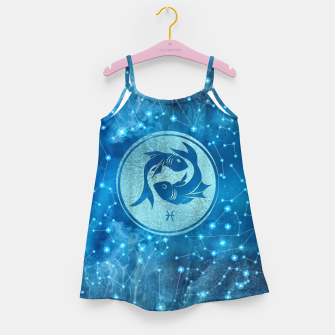 Thumbnail image of Pisces Zodiac Sign Water element Girl's dress, Live Heroes