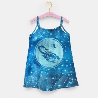Thumbnail image of Scorpio Zodiac Sign Water element Girl's dress, Live Heroes