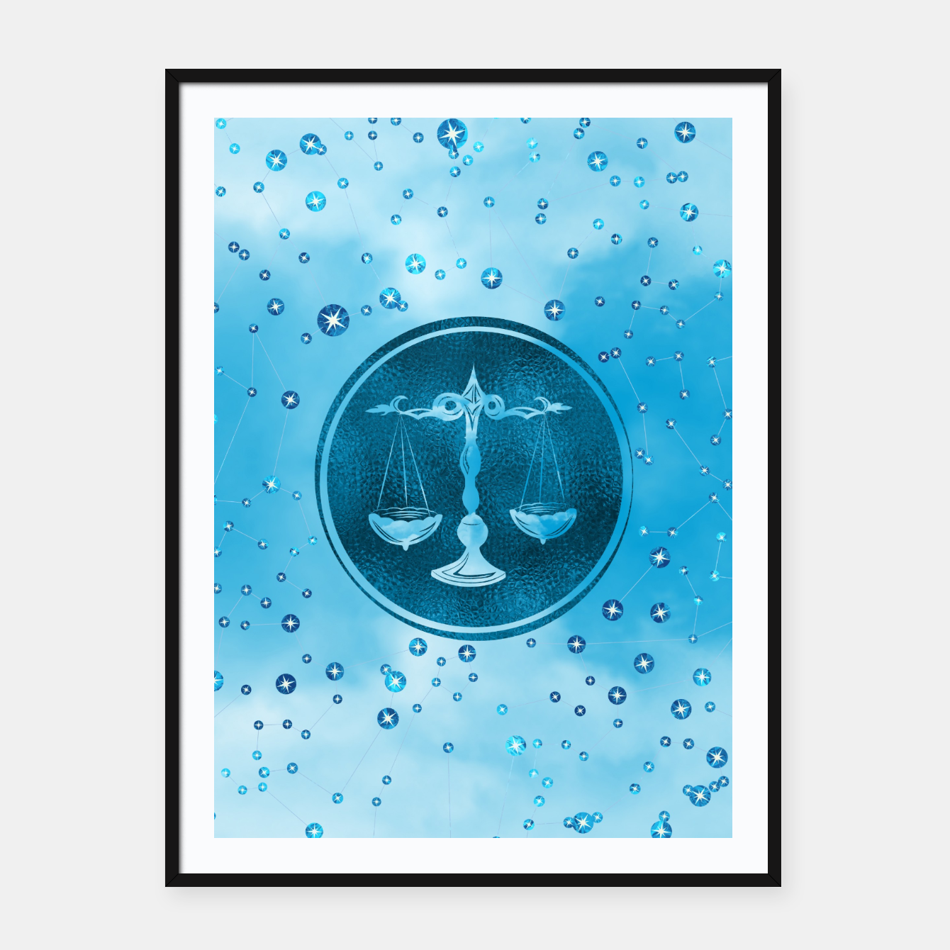 Libra Zodiac Sign Air Element Framed poster, Live Heroes