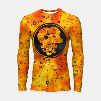 Thumbnail image of Aries Zodiac Sign Fire element Longsleeve rashguard , Live Heroes