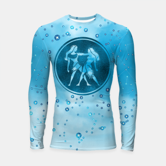 Thumbnail image of Gemini Zodiac Sign Air Element Longsleeve rashguard , Live Heroes