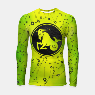 Thumbnail image of Capricorn Zodiac Sign Earth element Longsleeve rashguard , Live Heroes