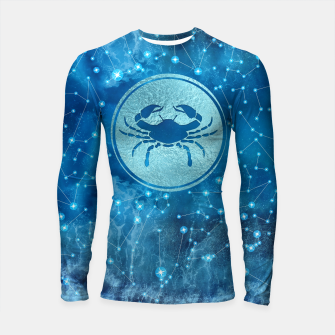 Thumbnail image of Cancer Zodiac Sign Water element Longsleeve rashguard , Live Heroes