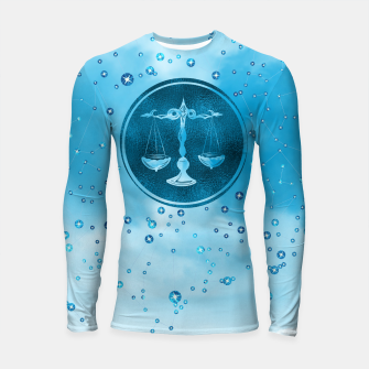 Thumbnail image of Libra Zodiac Sign Air Element Longsleeve rashguard , Live Heroes