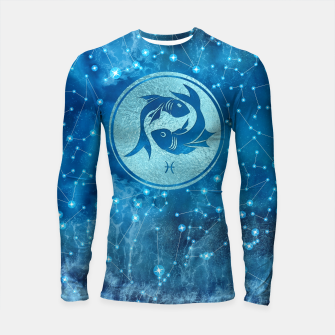 Thumbnail image of Pisces Zodiac Sign Water element Longsleeve rashguard , Live Heroes
