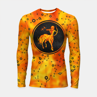 Thumbnail image of Sagittarius Zodiac Sign Fire element Longsleeve rashguard , Live Heroes