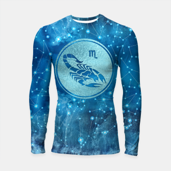 Thumbnail image of Scorpio Zodiac Sign Water element Longsleeve rashguard , Live Heroes