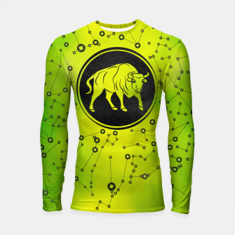 Thumbnail image of Taurus Zodiac Sign Earth element Longsleeve rashguard , Live Heroes