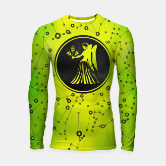 Thumbnail image of Virgo Zodiac Sign Earth element Longsleeve rashguard , Live Heroes