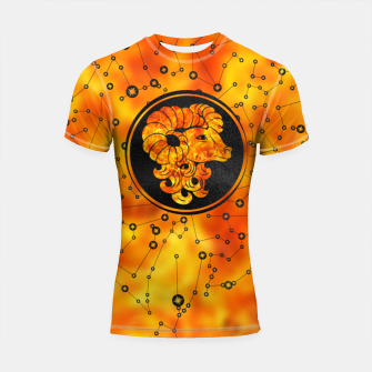 Thumbnail image of Aries Zodiac Sign Fire element Shortsleeve rashguard, Live Heroes