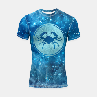 Thumbnail image of Cancer Zodiac Sign Water element Shortsleeve rashguard, Live Heroes