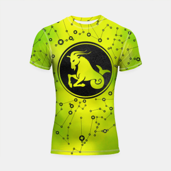 Thumbnail image of Capricorn Zodiac Sign Earth element Shortsleeve rashguard, Live Heroes
