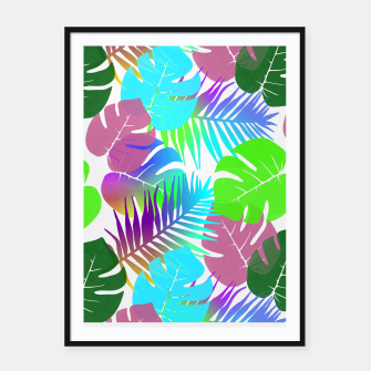 Thumbnail image of Tropical Summer Leaf Design Framed poster, Live Heroes