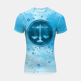 Thumbnail image of Libra Zodiac Sign Air Element Shortsleeve rashguard, Live Heroes