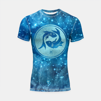 Thumbnail image of Pisces Zodiac Sign Water element Shortsleeve rashguard, Live Heroes