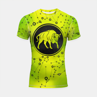 Thumbnail image of Taurus Zodiac Sign Earth element Shortsleeve rashguard, Live Heroes