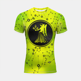 Thumbnail image of Virgo Zodiac Sign Earth element Shortsleeve rashguard, Live Heroes