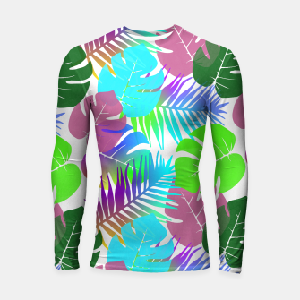 Thumbnail image of Tropical Summer Leaf Design Longsleeve rashguard , Live Heroes