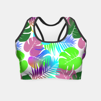 Thumbnail image of Tropical Summer Leaf Design Crop Top, Live Heroes