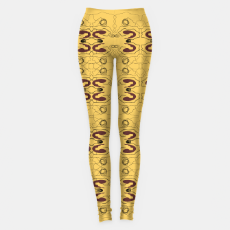 Miniatur Luxury LEGGINGs, gold artwork elements, Live Heroes