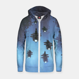 Thumbnail image of The Voyage Home Cotton zip up hoodie, Live Heroes
