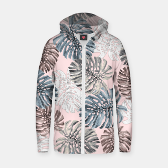 Thumbnail image of Palm Pattern Cotton zip up hoodie, Live Heroes