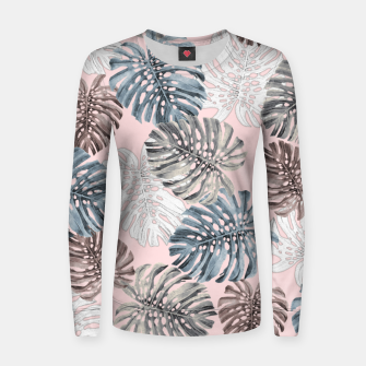 Thumbnail image of Palm Pattern Woman cotton sweater, Live Heroes