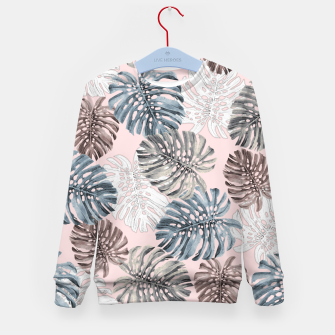 Thumbnail image of Palm Pattern Kid's sweater, Live Heroes
