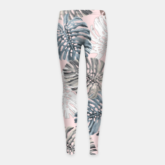 Thumbnail image of Palm Pattern Girl's leggings, Live Heroes