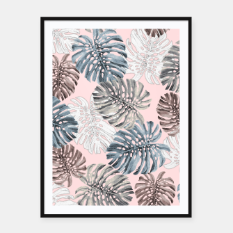 Thumbnail image of Palm Pattern Framed poster, Live Heroes