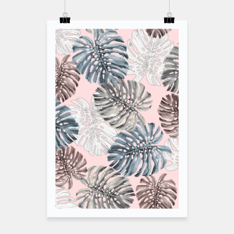 Thumbnail image of Palm Pattern Poster, Live Heroes